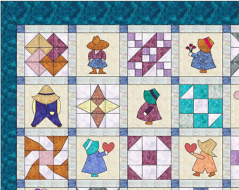Sunbonnet Sue Quilt Pattern Instant Download PDF 12.