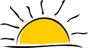10881 Sunset free clipart.