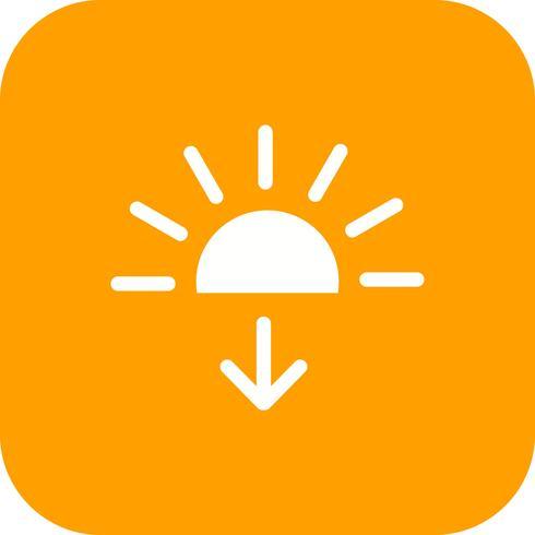 Sundown Vector Icon.