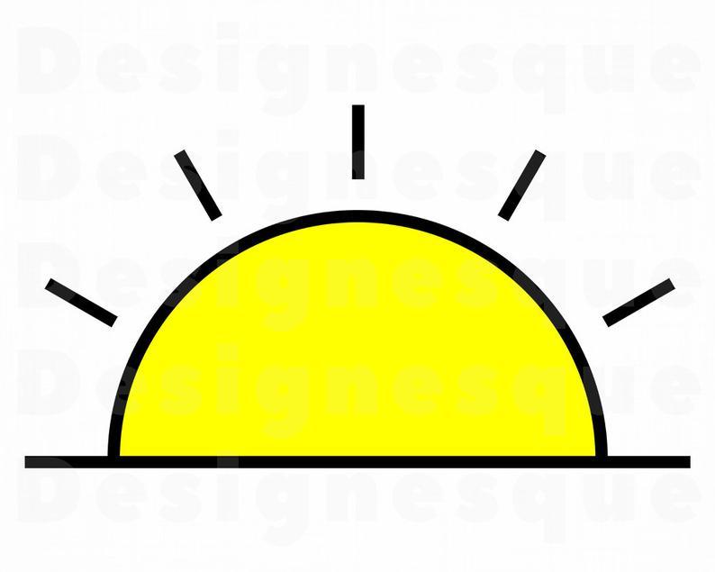 Sunrise SVG, Sunset SVG, Sun Svg, Sunrise Clipart, Sunset Clipart, Sunrise  Files for Cricut, Cut Files For Silhouette, Dxf, Png, Eps, Vector.