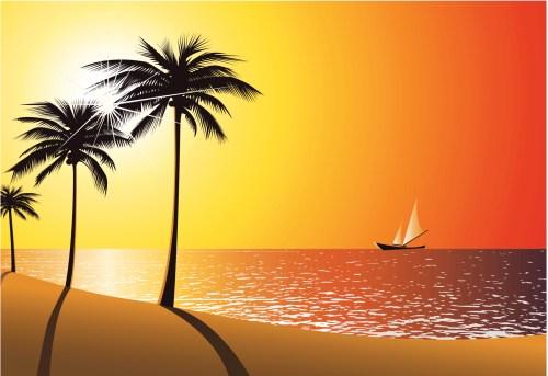 Sunset beach clipart » Clipart Portal.
