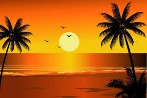 Sunset beach clipart 2 » Clipart Portal.