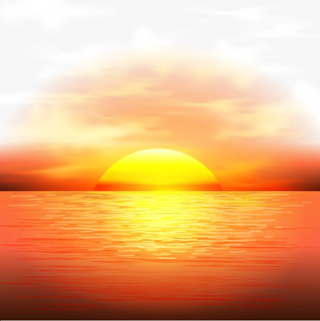 Vector Sunset, Maritime, Dusk, Sun PNG Transparent Clipart.
