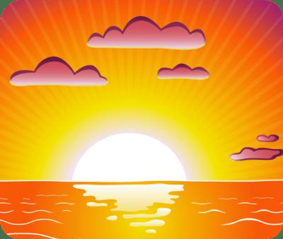 Sunset clipart setting sun, Sunset setting sun Transparent.
