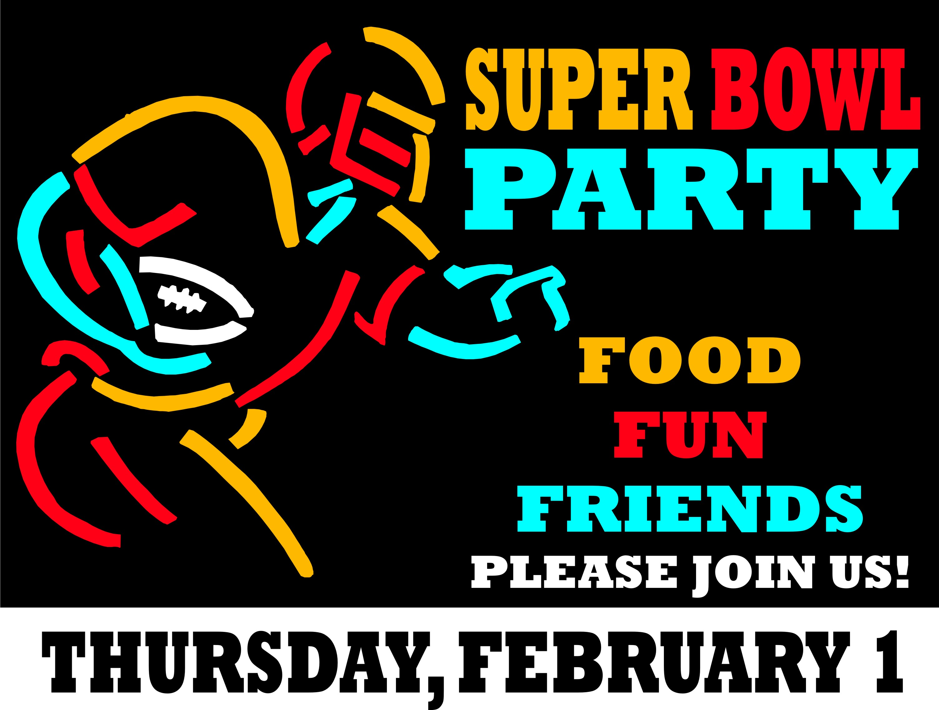 clipart super bowl party
