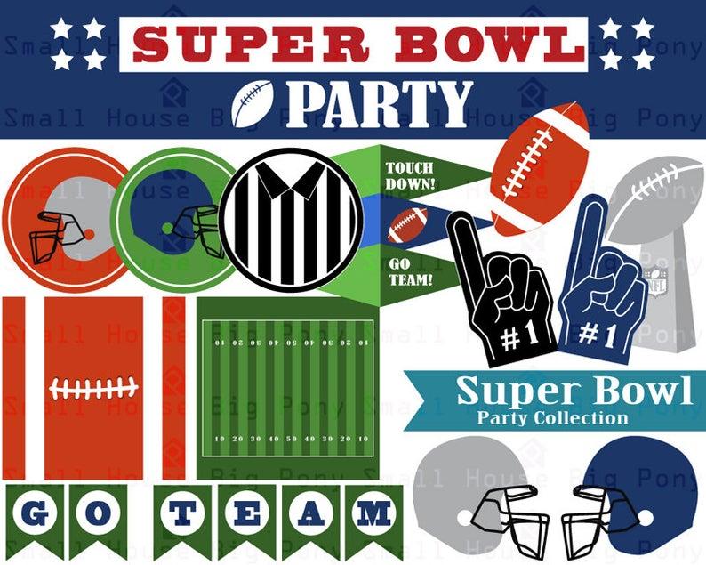 Super Bowl Clip art, Clipart Party Collection.