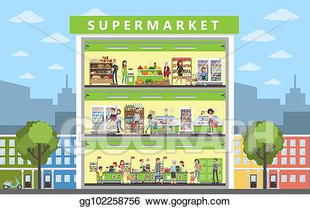 Supermarket building clipart 3 » Clipart Station.