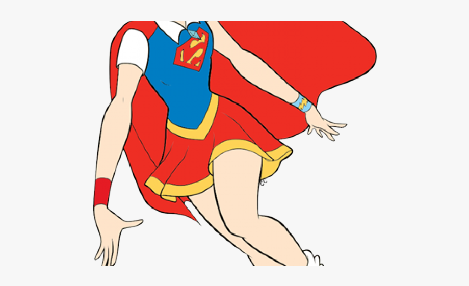 Supergirl Clipart Purple Superhero.