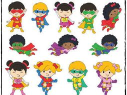 Superhero Kids Clipart.