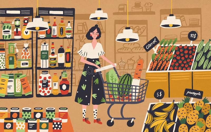 Supermarket Stock Illustrations.