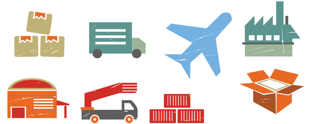 Supply Chain Clipart.