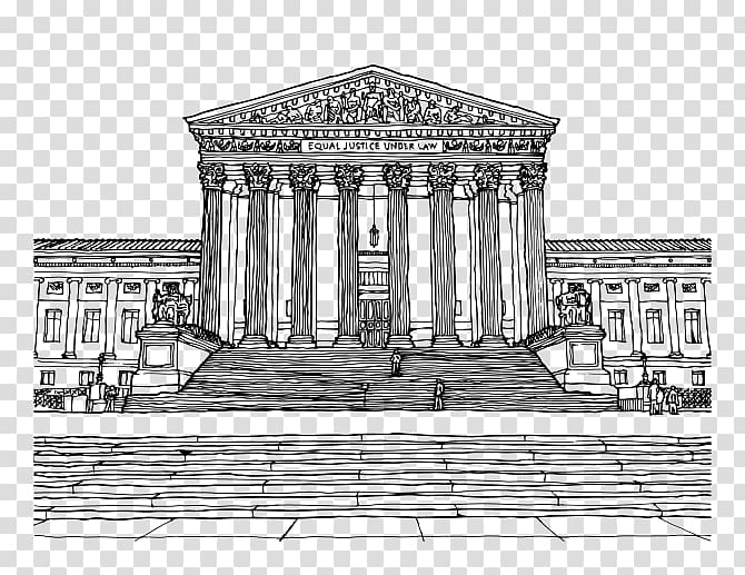 Supreme Court of the United States Drawing Courtroom sketch.