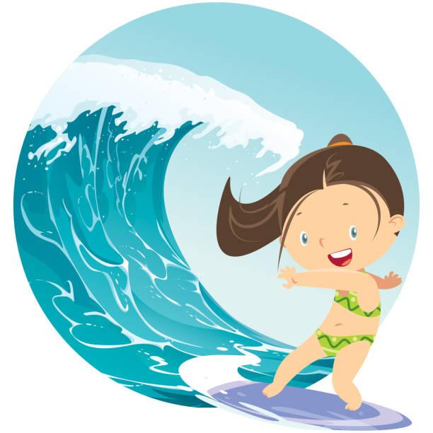 Best Surfer Girl Illustrations, Royalty.