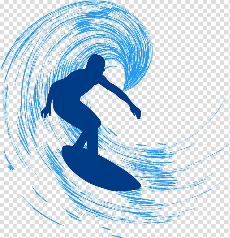 Surfer illustration, Surfing Surfboard, Surf the sea.
