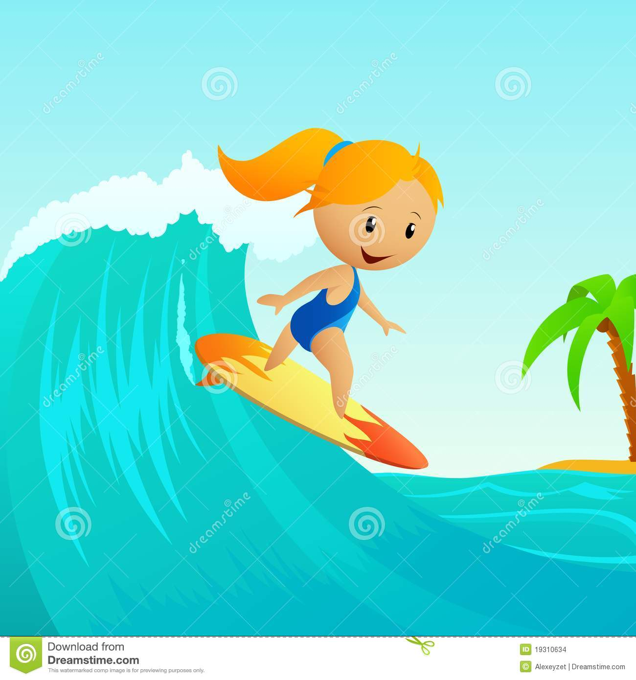 743 Surfing free clipart.