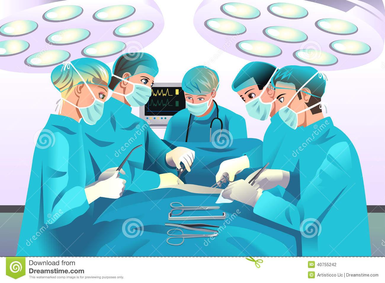 Surgery Patient Clipart.