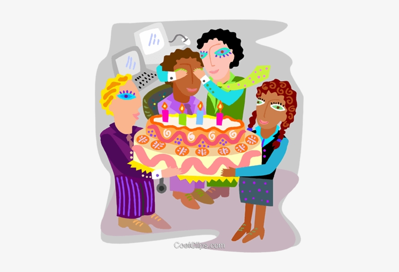 Employee Birthday Party Royalty Free Vector Clip Art.