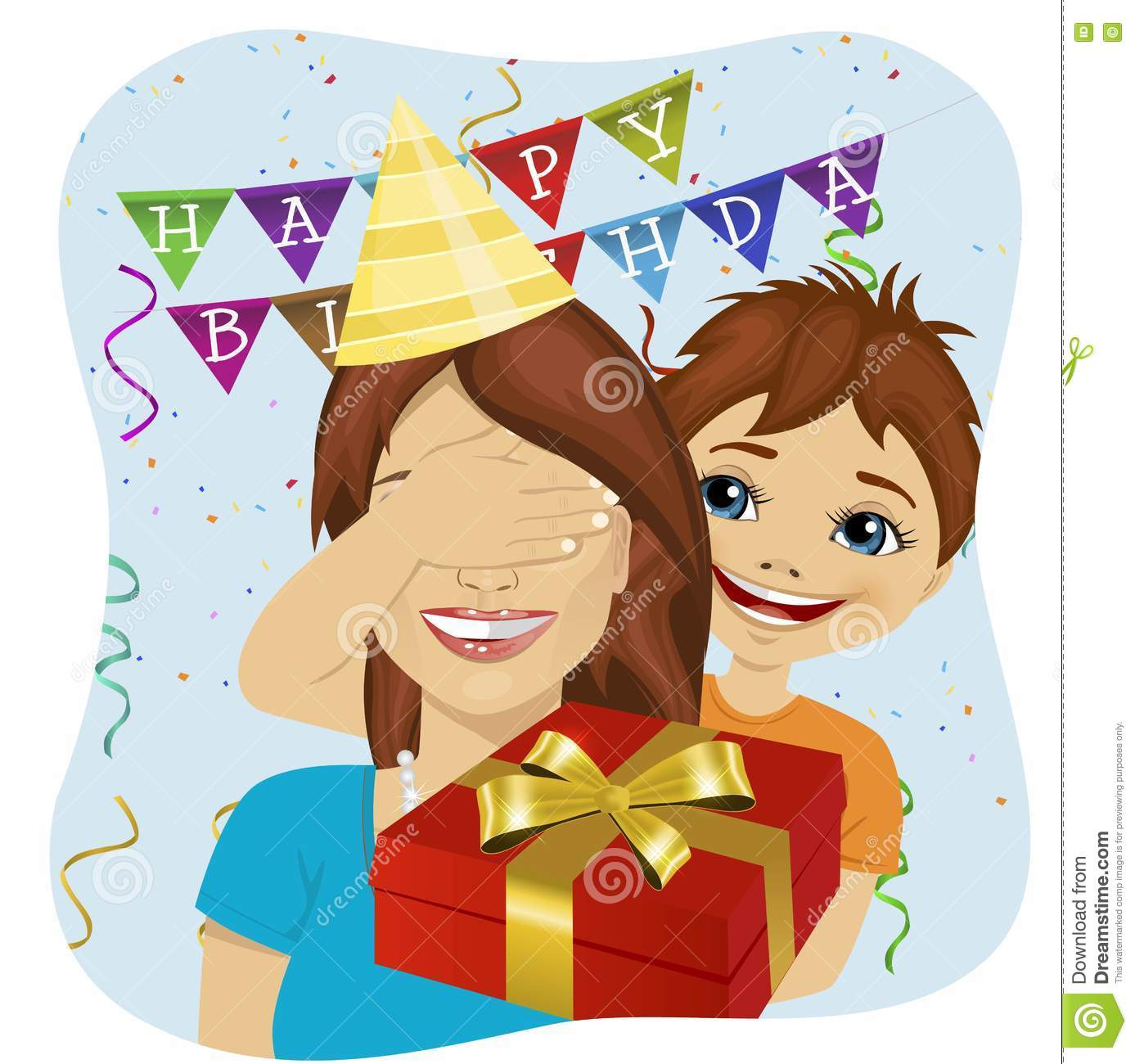Surprise Birthday Clipart.