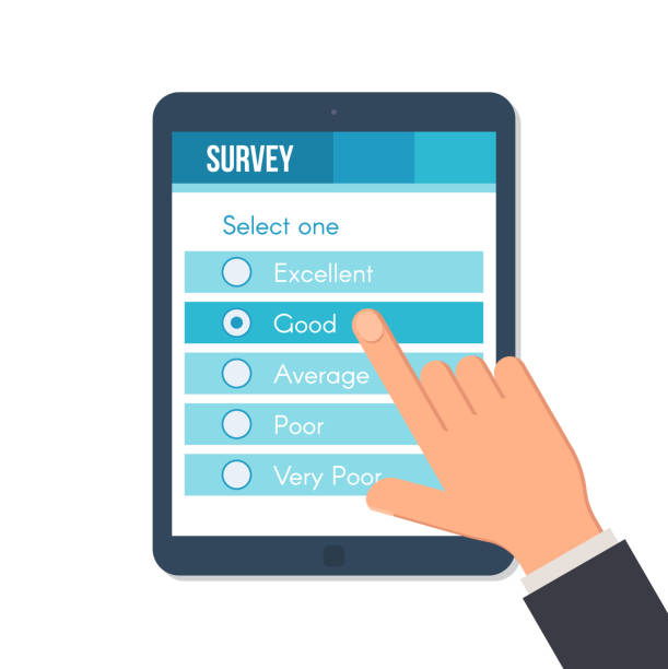 Best Online Survey Illustrations, Royalty.