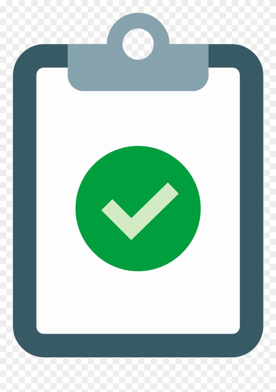 Green Check Survey Clipart.