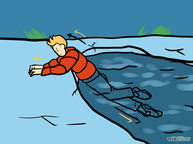 How to survive a fall through the ice.
