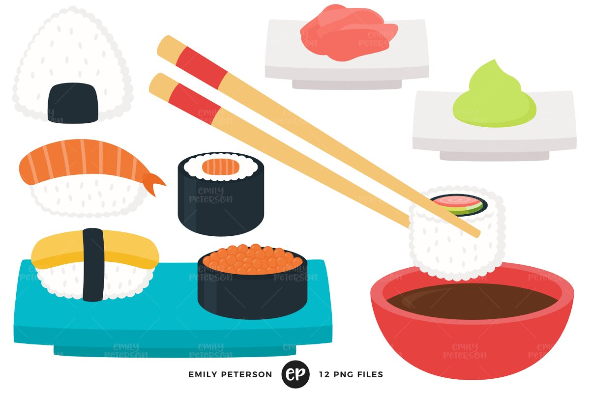 Sushi Clipart.