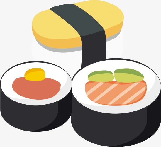 Sushi Vector Material Clipart Japan Food PNG Image And Amusing.