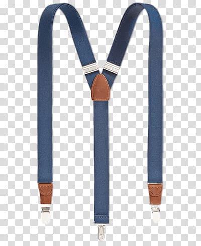 Blue and brown suspenders, Blue Suspenders transparent.