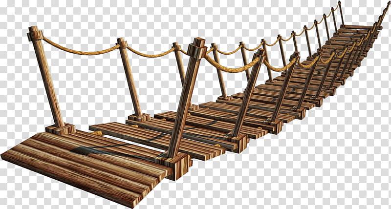 Wooden Bridge A Suspension Bridge A, brown wooden bridge.