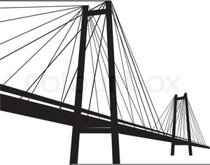 Clipart Suspension Bridge.