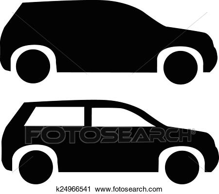 Suv car icon Clipart.