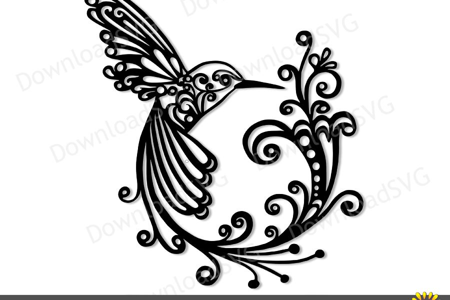 SVG and PNG cutting files, Hummingbird, Clipart, Vector.