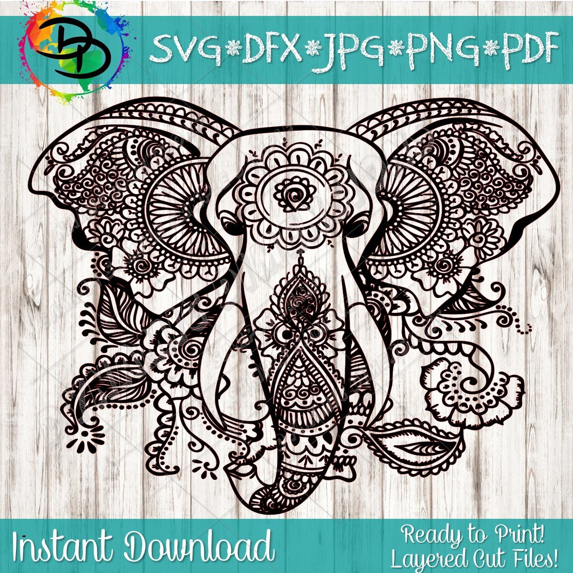 Mandala svg Elephant svg svg file for cricut Mandala clipart Elephant  clipart Mandala digital Mandala png Mandala Mandala dxf download.