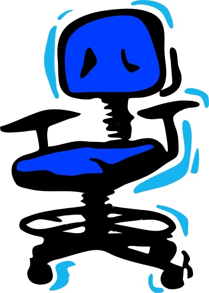 Office Chair clip art Free vector in Open office drawing svg.