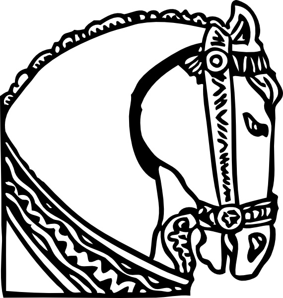 Horse head clip art free vector in open office drawing svg 2.