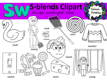 S Blends clipart.