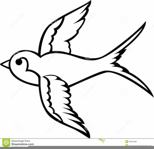 Swallow Clipart Black And White.