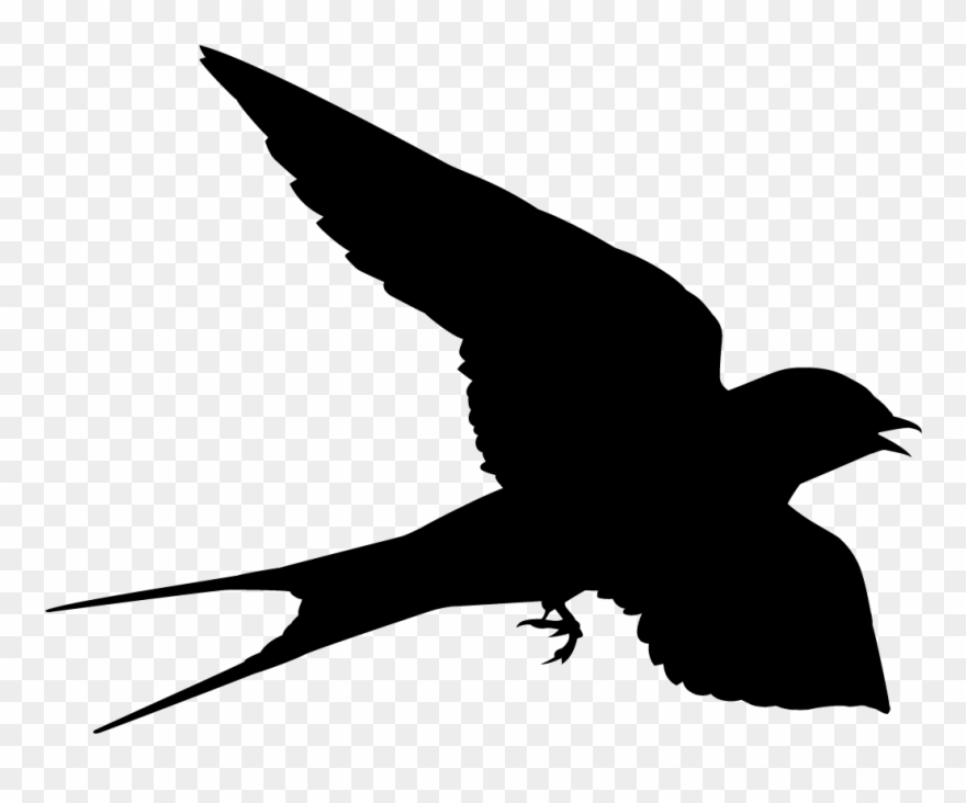 Swallow Clipart Silhouette.