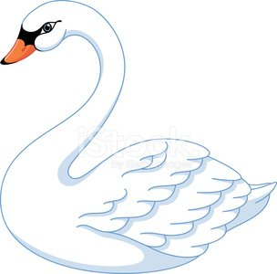 swan Clipart Image.