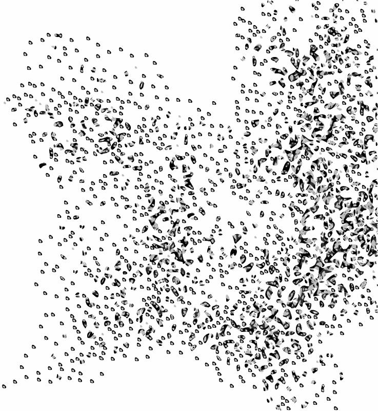 Free Clipart: Network Node Cloud Swarm Simple.