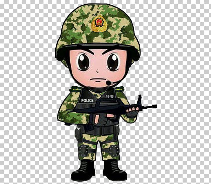 China Police Chinese public security bureau Cartoon, Armed.