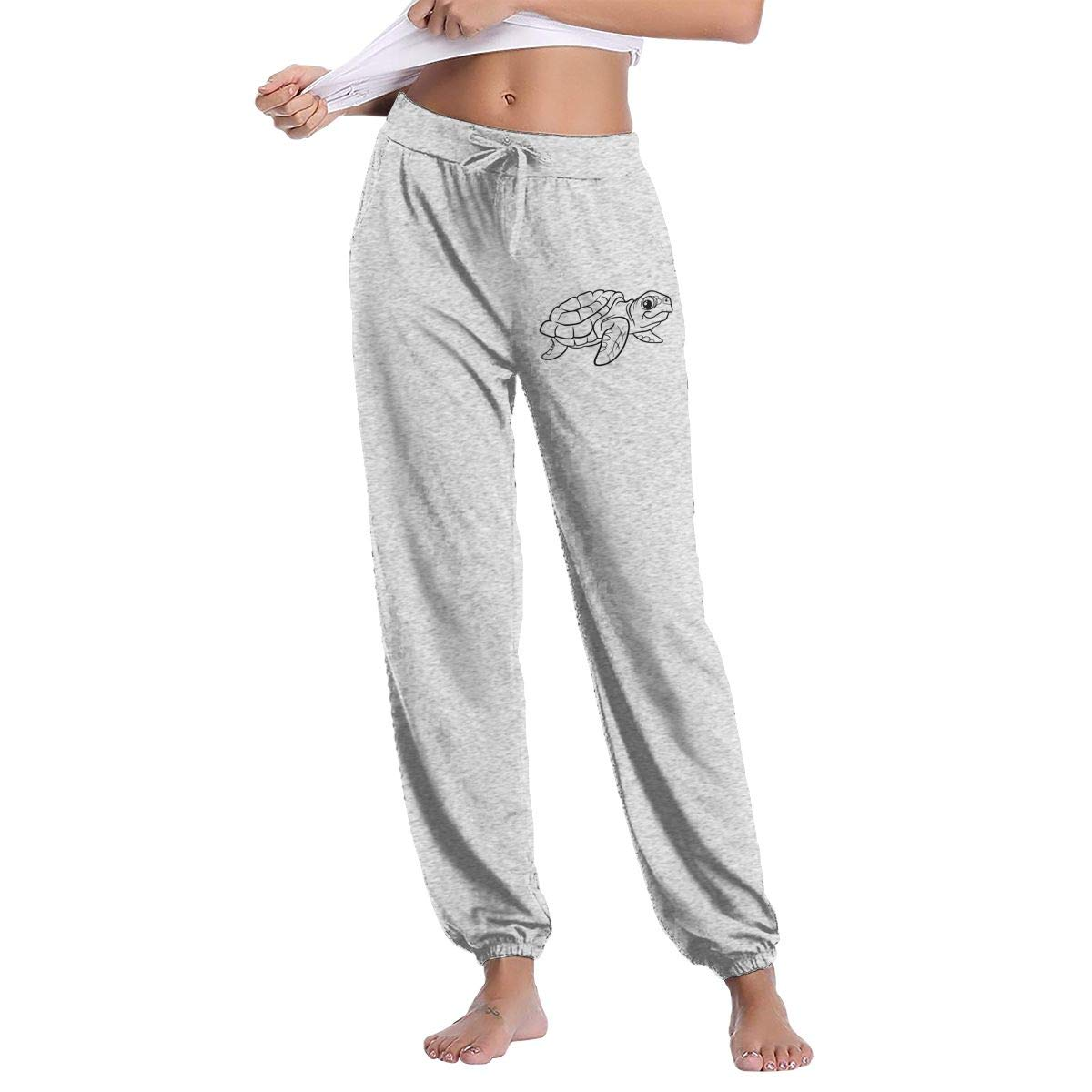 Women\'s Turtle Clipart Sweatpants with Pockets Comfy Pants.