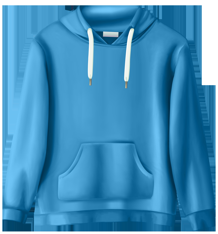 Blue Sweatshirt PNG Clip Art.