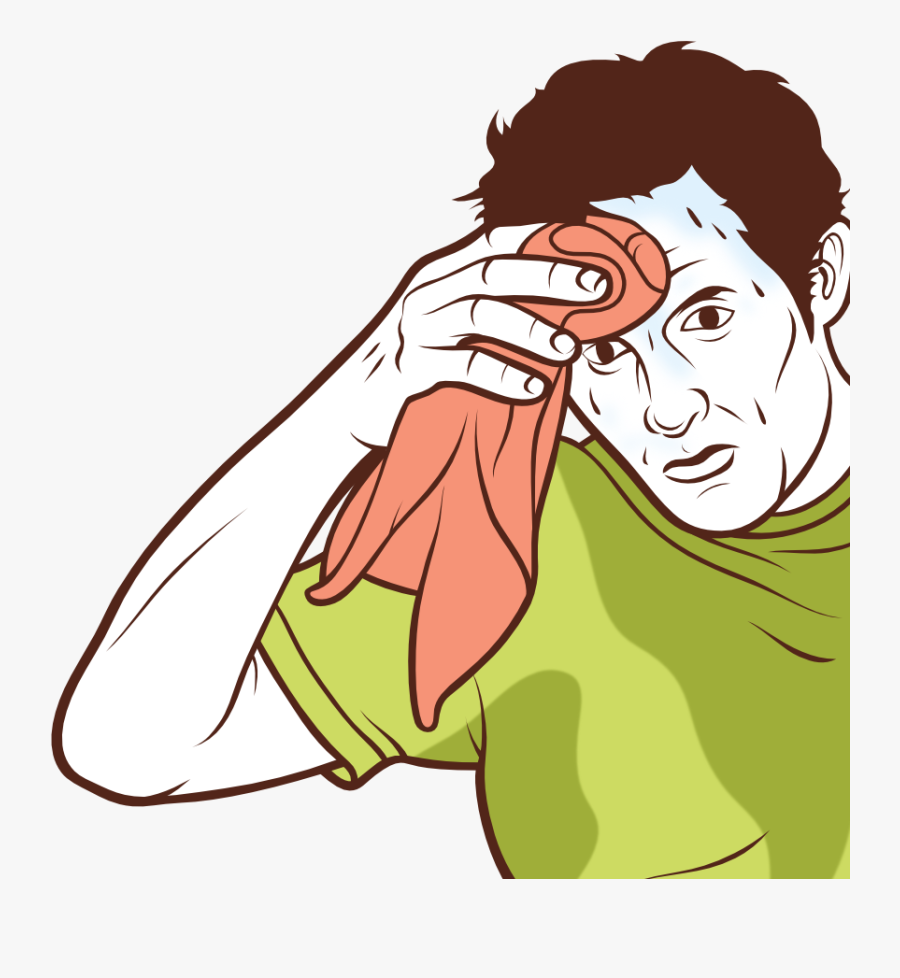 Sweating Towel Guy Png , Free Transparent Clipart.