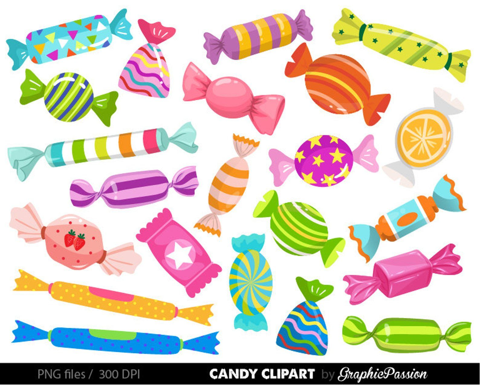Candy clipart Candy graphics Wonka Party Clipart Desserts.