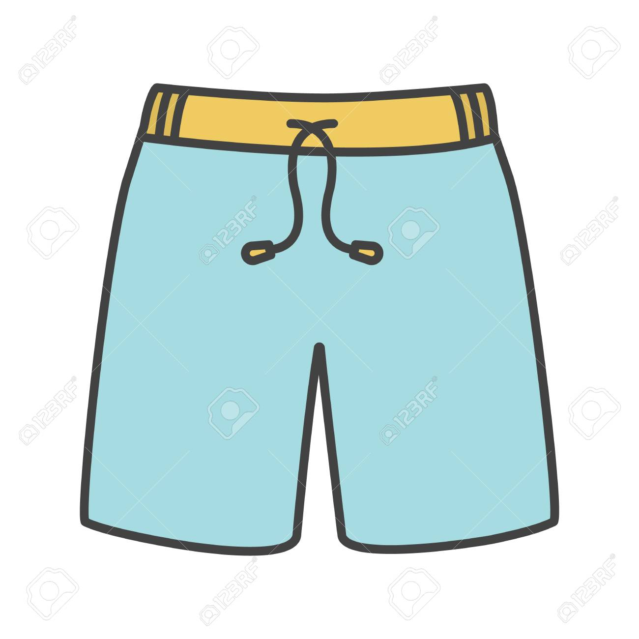 Swimming trunks color icon » Clipart Station.