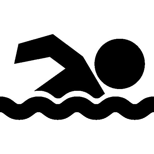 Silhouette Swimming Sport Clip art.