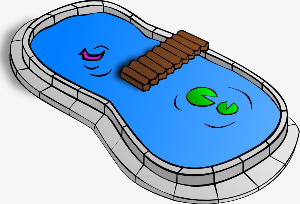 Cartoon clipart swimming pool, Cartoon swimming pool.