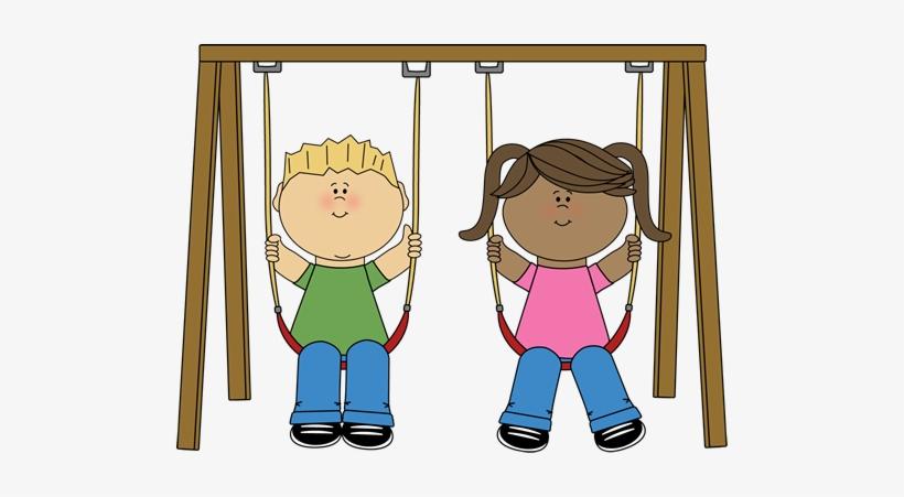 Playground Swing Set Clipart.