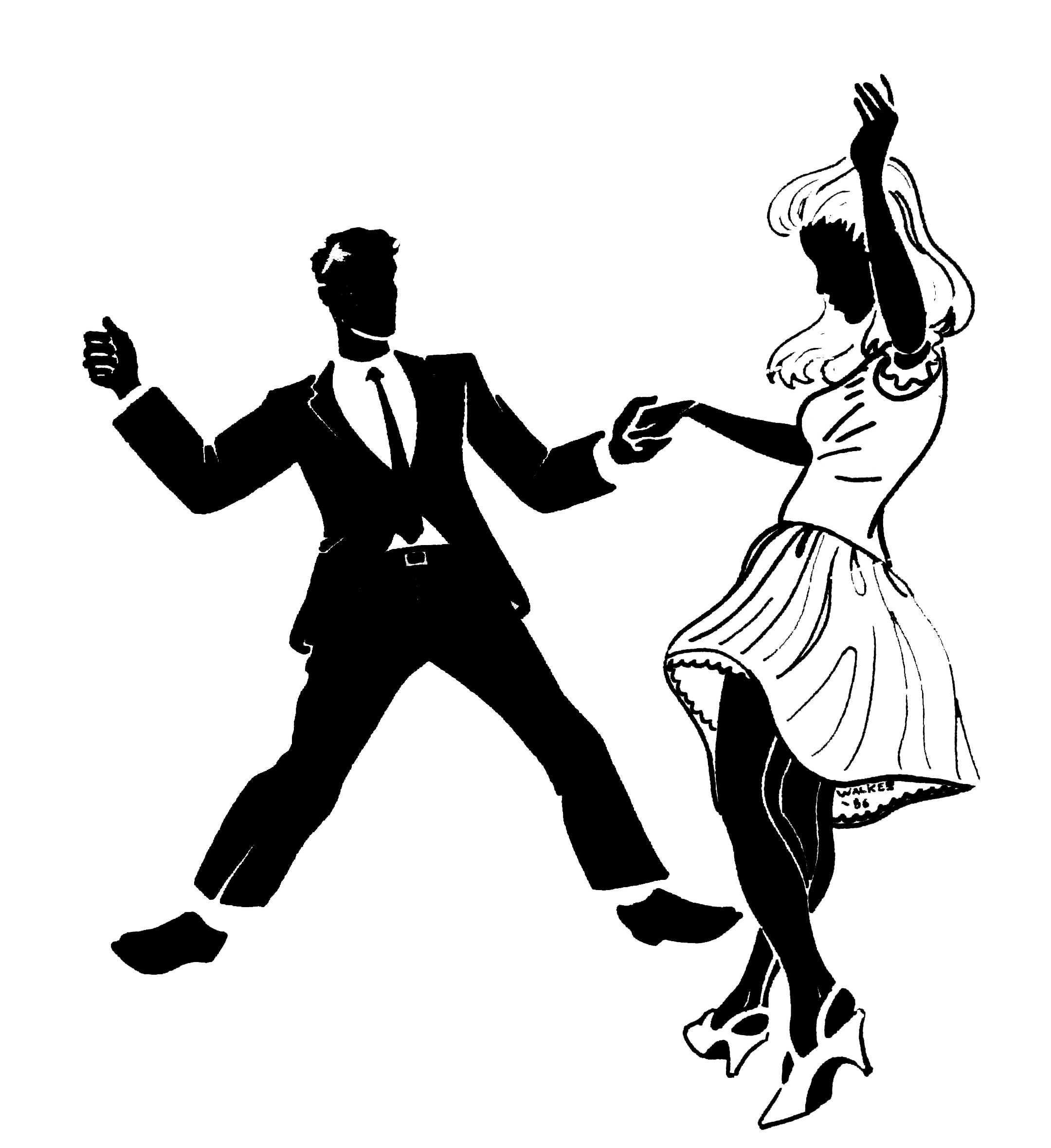Swing Dance Clip Art N22 free image.